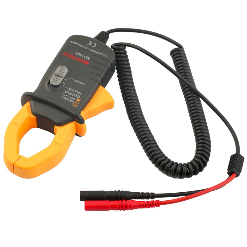 MASTECH MS3302 AC Current 0.1A-400A Clamp Meter Transducer True RMS mas tech pro mini mastech ms3302 ac current transducer 0 1a 400a clamp meter test hot sales