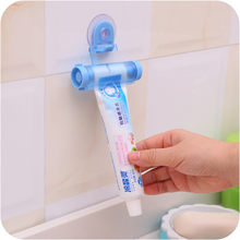 Toothpaste Dispenser Tube Partner Sucker Hanging Toothpaste Storage Rack Organizer Squeezer Random Color(China)