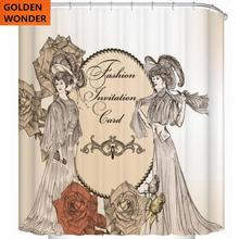 цена на Free Shipping New Design Beauty Chinise Style Shower Curtain Bathroom Curtain Data Printing Cortina Polyester Water-proof