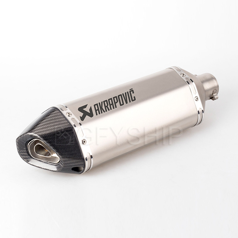470mm 570mm Universal Motorcycle Akrapovic Exhaust Pipe Muffler GP Escape Moto System For Most Scooter Pit Dirt Bike ATV Slip on
