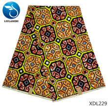 LIULANZHI Wholesale ankara wax fabrics 100%Polyester african real fabric for sewing dress 6yards/lot  XDL220-XDL233