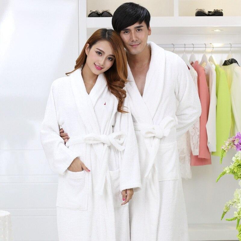 f1cf3d3253 Winter Cotton bathrobe men Thick Pajamas Towel Fleece Bridesmaid Robes  nightgown Kimono Men s Robe Long Soft Robe lovers autumn -in Robes from  Underwear ...
