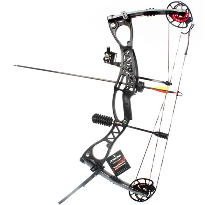 M122 Compound Bow With 40-70 lbs Draw Weight Archery Set for Competition Practice Target Outdoor Hunting Shooting Archery 50lbs archery compound bow left right handed for hunting target shooting competition sport slingshot bow camouflage black color