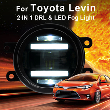 2014-ON For Toyota levin fog lights+LED DRL+turn signal lights Car Styling LED Daytime Running Lights LED fog lamps auto pro car styling for toyota yaris l led fog lights led drl turn signal lights led daytime running lights yaris led fog lamps