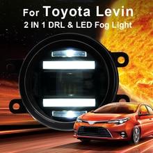 2014-ON For Toyota levin fog lights+LED DRL+turn signal lights Car Styling LED Daytime Running Lights LED fog lamps цена в Москве и Питере