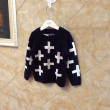 2015 Winter Warm Nununu Full Cross In Boys Girl Clothing Knitted Children Sweater Kids Shrugs Cothes Pullover Cotton