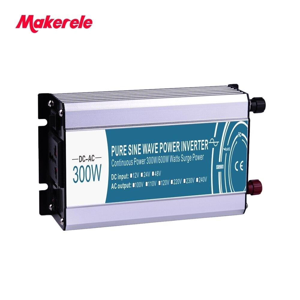 12 v 300 w onduleur à 110vac tension à onde sinusoïdale pure solaire convertisseur de puissance hors réseau électrique puissance inverseur MKP300-121
