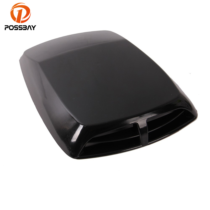 POSSBAY Universal Car Air Flow Vent Intake Hood Scoop Stickers Automobiles Bonnet Vent Fit Toyota Peugeot Ford Car Stickers