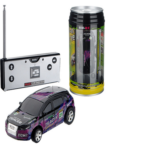 New Mini Coke Can Speed RC Radio Remote Control Micro Race Toy For Children Random color
