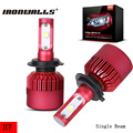Ironwalls H7 Led Headlight Bulbs 80W 6500K 9600Lm Cree Chips Single Beam Auto Front Fog Headlamp Kit DC 12/24V