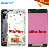 For Sony Xperia Z1 Mini Compact D5503 M51W LCD Display Digitizer Touch Screen With Bezel Frame