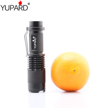 YUPARD Mini 12W  CREE XML XM-L2 LED Adjustable Zoomable Flashlight Lamp Light Torch Black T6 LED  1x18650 rechargeable battery 502b led flashlight cree xml xml t6 xm l2 led camping lamps tactical torch 2200 lumen lanterna