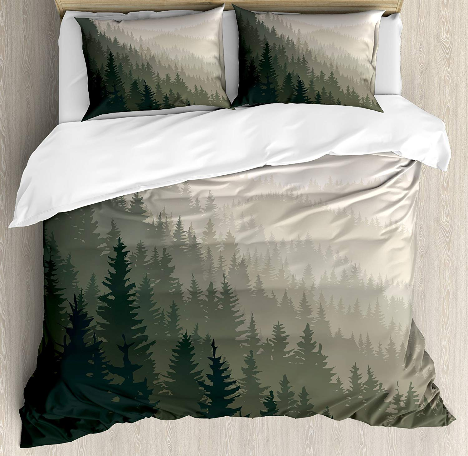 Forest Duvet Cover Set Northern Parts Of The World With