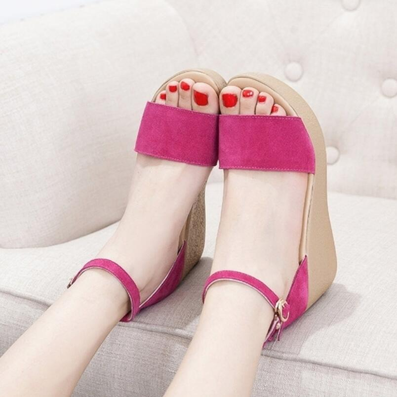 {D&Henlu} 2018 Shoes Women Sandals Summer Platform Sandals High Heels Sandal Ladies Sandal Women Open Toes Heels Wedge sandalias