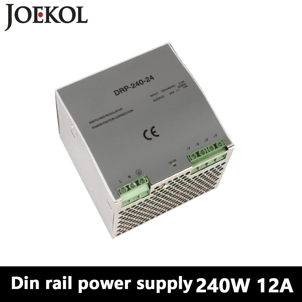 DR-240 Din Rail Power Supply 240W 12V 20A,Switching Power Supply AC 110v/220v Transformer To DC 12v,watt power supply dr 240 din rail power supply 240w 24v 10a switching power supply ac 110v 220v transformer to dc 24v ac dc converter