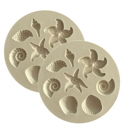 Vida marinha concha estrela do mar concha fondant bolo molde de silicone diy bolo geléia molde de cozimento acessórios da cozinha molde de chocolate