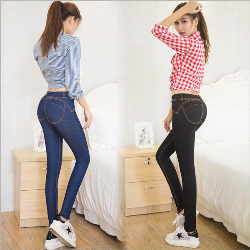 Hot Sale Mid-Waist High Elastic Sexy Jeans Women Casual Style Skinny Slim Pencil Denim Pants Fashion Pantalones Vaqueros Mujer 4xl plus size high waist elastic jeans thin skinny pencil pants sexy slim hip denim pants for women euramerican
