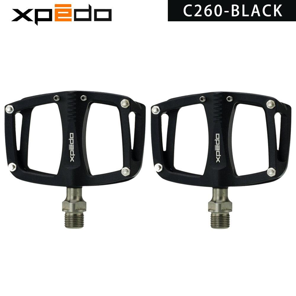 Wellgo xpedo C260 VTT Route Roulement Scellé Plate-Forme En Aluminium Pédales 195 g/paire titanium broche vélo pédales - 2