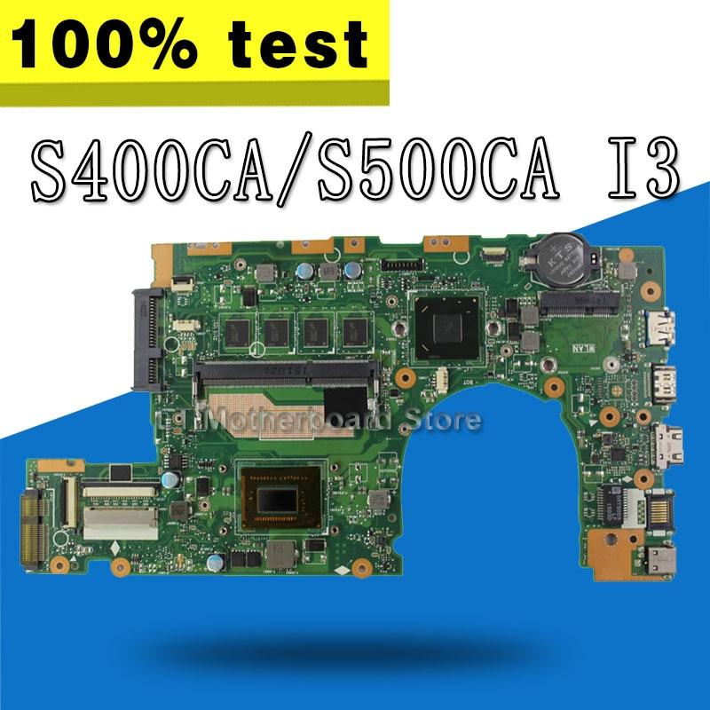 S400CA Motherboard I3 CPU For ASUS S400CA S400C S500CA Laptop motherboard S400CA Mainboard S400CA Motherboard test 100% OK