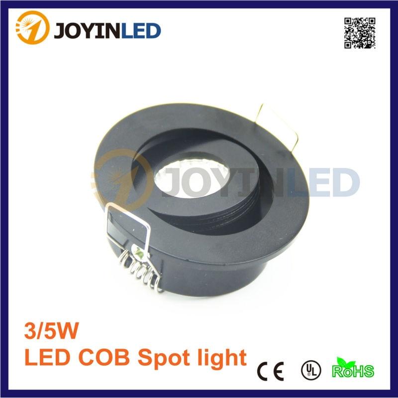 110v 220v velikost díry 42mm LED Mini Downlight 3W COB Černá ledová stropní svítidla Lampa pro koupelnové / skříňové / kuchyňské svítidlo