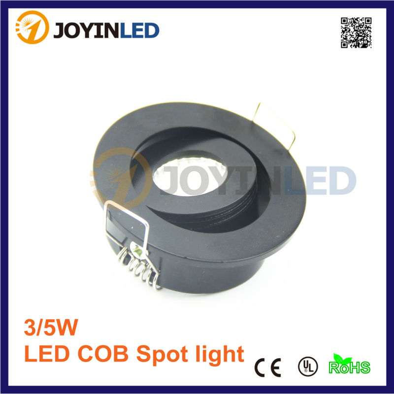 110v 220v gatgrootte 42mm LEIDENE Minidownlight 3W MAÏSKOLF Zwarte - Binnenverlichting