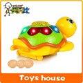 Ovo música elétrica brinquedos do bebê tartaruga pode pôr ovos brinquedos educativos brinquedos eletrônicos pet eletrônico