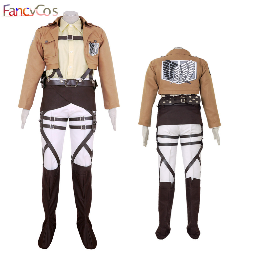 Halloween Attack on Titan Hans Zoe Shingeki no Kyojin Survey Corps Black  Anime Version Cosplay Costume Game Japanese