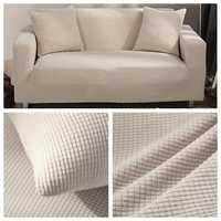 Velours canapé couvre pour salon solide sectionnel canapé couverture élastique canapé couverture décor à la maison Fundas canapé argent qualité supérieure