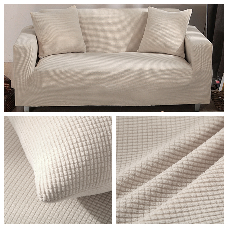 US $9.6 40% OFF|Velvet Sofa Covers for Living Room Solid Sectional Sofa  Cover Elastic Couch Cover Home Decor Fundas Sofa Slipover Top Quality-in  Sofa ...