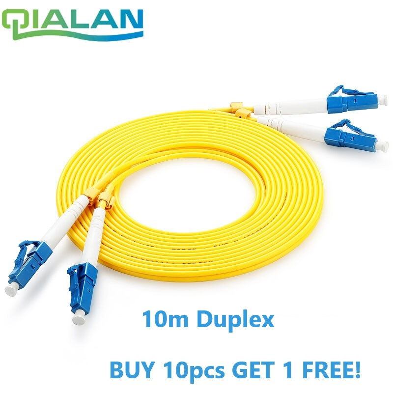 LC UPC Patchcord 10m Fiber Optic Patch Cord  Duplex 2.0mm PVC Optical Jumper Single Mode FTTH Fiber Patch Cable LC Connector-in Fiber Optic Equipments from Cellphones & Telecommunications