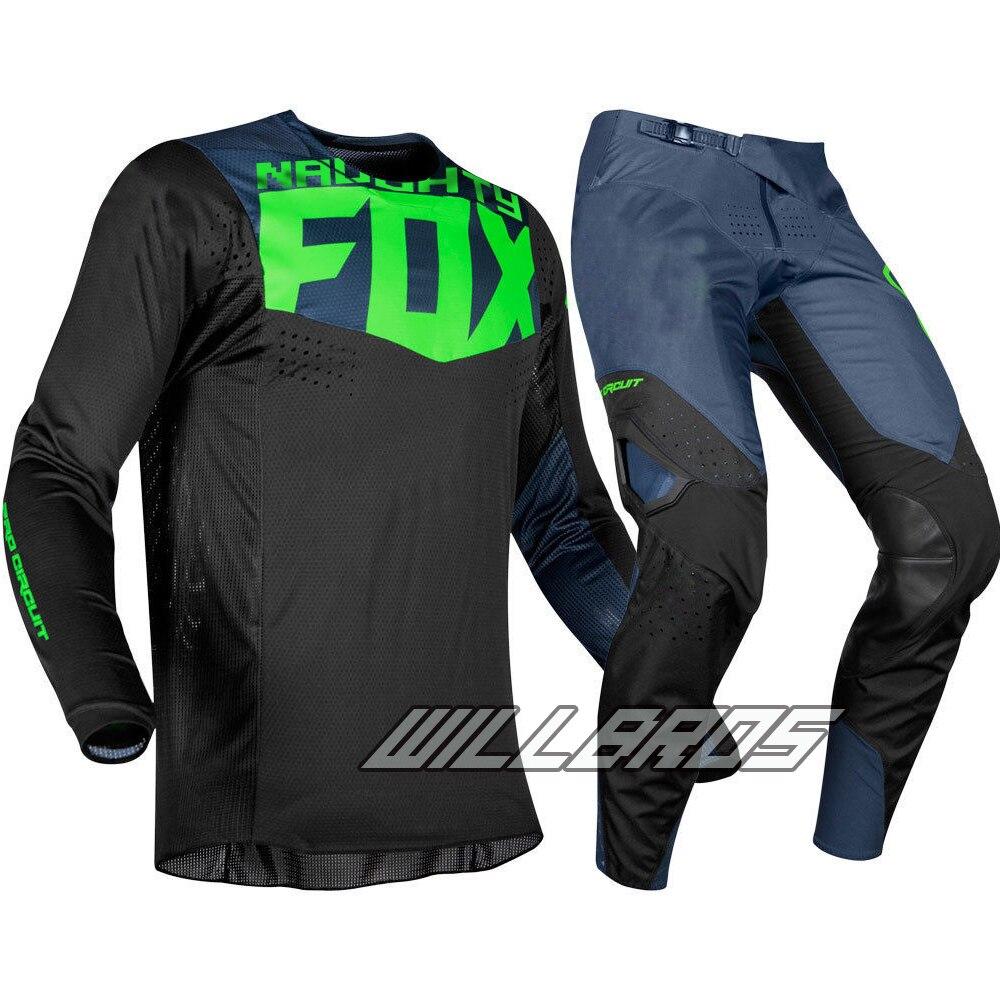 Livraison gratuite 2019 vilain Fox MX 360 Kila Jersey pantalon Motocross Dirt bike vtt adulte Racing noir Gear Set - 6