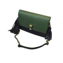 2016 New Fashion Women Leather Messenger Bags Famous Brand Desinger Fringe Tassel Crossbody Bags Lady Small Chain Shoulder Bag
