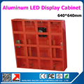 Orange color 640*640mm p10 led display cabinet outdoor aluminum led screen board for p10 outdoor video led display