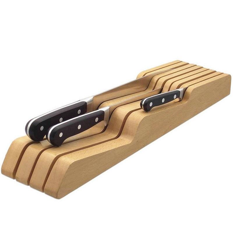 Creative Wooden Knife Holder Storage Drawers Utensil Storage Drawer Knife Bags Space-Saving Knife Block Kicthen Accessories