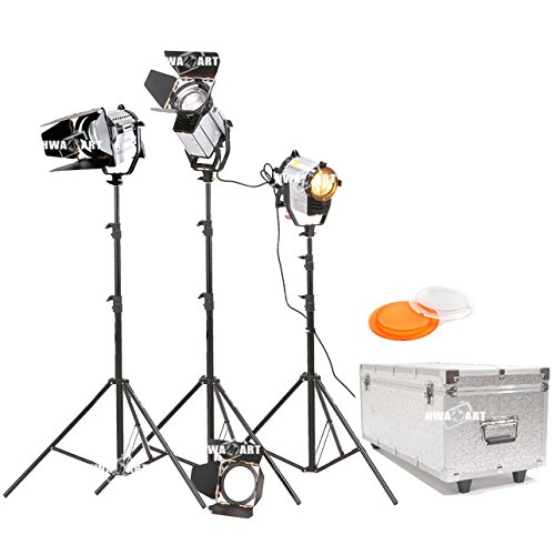 Bi color 150W LED Studio Fresnel Spotlight 3200 5500K Wireless Remote Dimmable (150W THREE SET) CD50