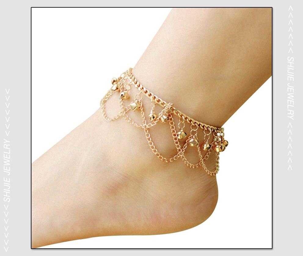 HTB10mJ6RpXXXXavaXXXq6xXFXXX8 Sexy Boho Women Gold Anklet With Bell Charms