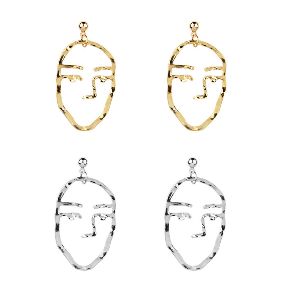 1 Retro Wind Weird Face Design Earrings New Arrival Fashion Women Jewelry Accessories Special Shape Earring in Stud Earrings from Jewelry Accessories