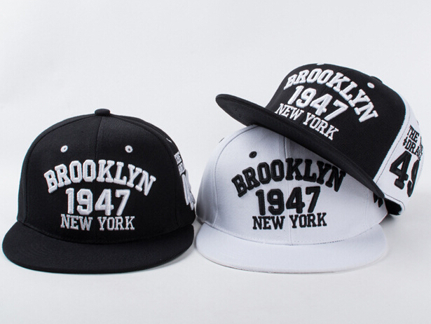 New York Brooklyn 1947 The Time Drags Snapback Caps Gorras Bone Hats