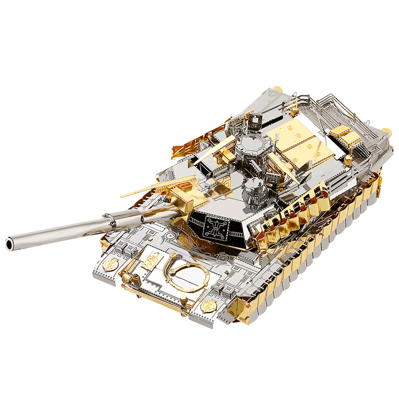 MMZ MODEL Piececool 3D Metal Puzzle M1A2 SEP Tusk2 Tank Millitary Assembly Metal Model Kit DIY 3D Laser Cut Model Puzzle Toys