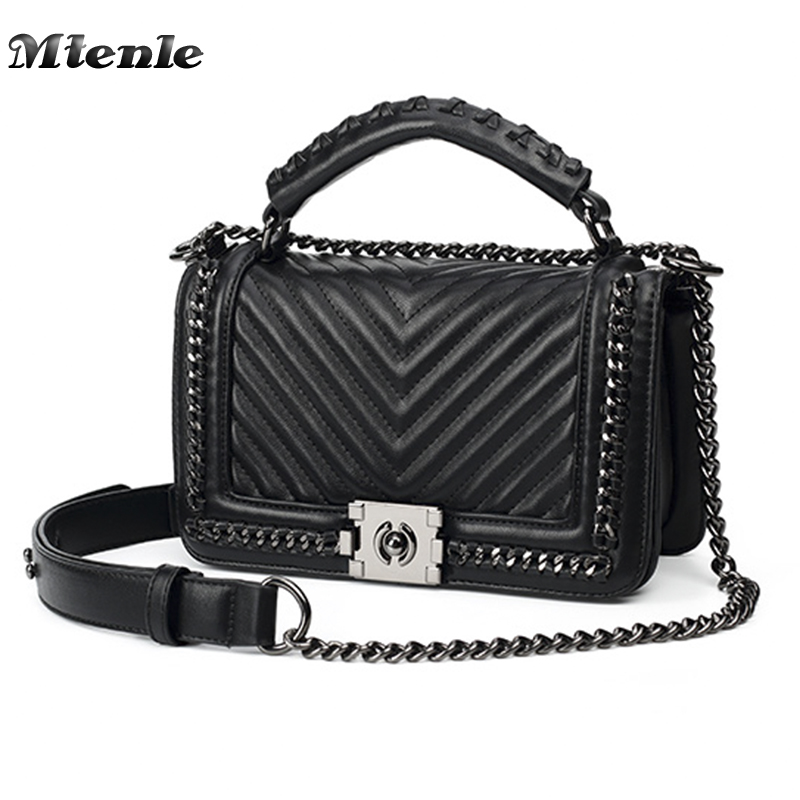 MTENLE Fashion Women Crossbody Bag Chain Single Shoulder Bags Ladies PU Leather Bag Women Handbags New Sac Femme Spring Summer H yuanyu 2018 new hot free shipping import crocodile women chain bag fashion leather single shoulder bag small dinner packages