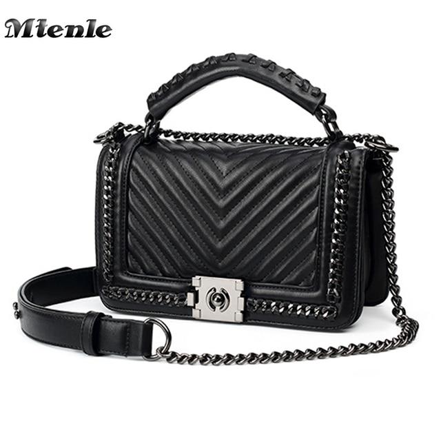 Mtenle Fashion Women Crossbody Bag Chain Single Shoulder Bags Las Pu Leather Handbags New