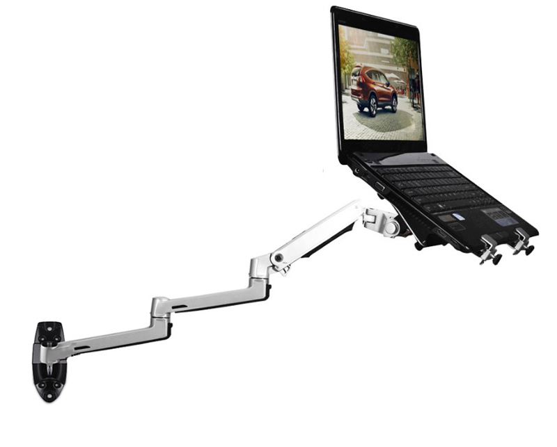XSJ8013WT Wall Mount Laptop Holder Ultra Long Arm Aluminum Mechanical Spring Full Motion Laptop Mount Arm Monitor Holder Lapdesk-in Laptop Stand from Automobiles & Motorcycles