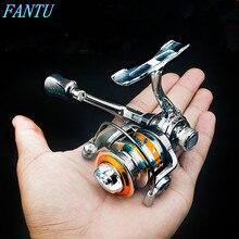 FANTU Mini Spining Reel 100 # Winter Fishing Reels 157g Fishing Accessories Zinc Alloy Spinning Reel Baitcasting Fishing Tools