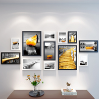 Picture Frame Sets for Wall Photo Frame Set Hanging Family Wedding Hotel Frame for Photos Pictures Decoration Home 12 Pieces