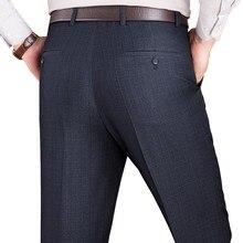 65ad92b22e MuYuanYang ropa trajes y Blazer traje pantalones hombres formales planas  Otoño e Invierno mezcla de lana gruesa pantalones de tr.