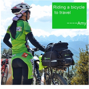 Image 5 - Сумка на заднее сиденье велосипеда ROCKBROS, рюкзак для багажника, велосипедная сумка для горного велосипеда, посылка на багажник, вместительные Аксессуары для велосипеда