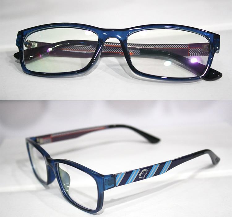 ᗛblue frame striped legs fashion Myopia glasses Optical Custom made ...