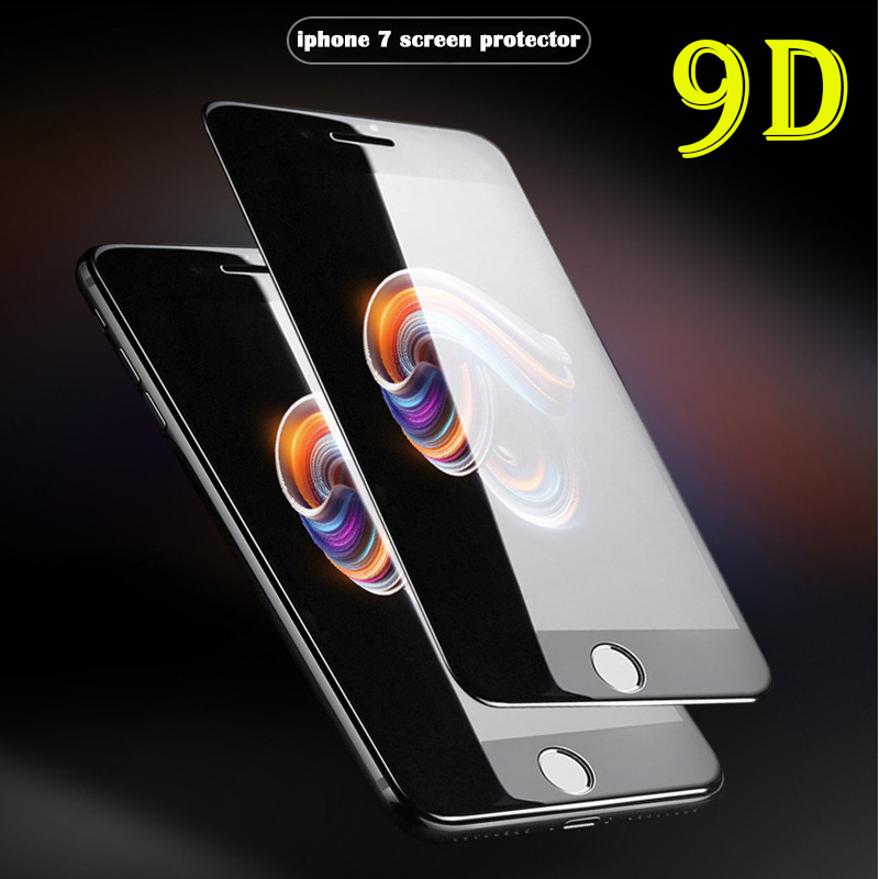 New 9D Curved Full Cover Tempered Glass on the For iPhone X XR XS Max Screen Protector For iphone 11 pro max Protection Film in Phone Screen Protectors from Cellphones Telecommunications