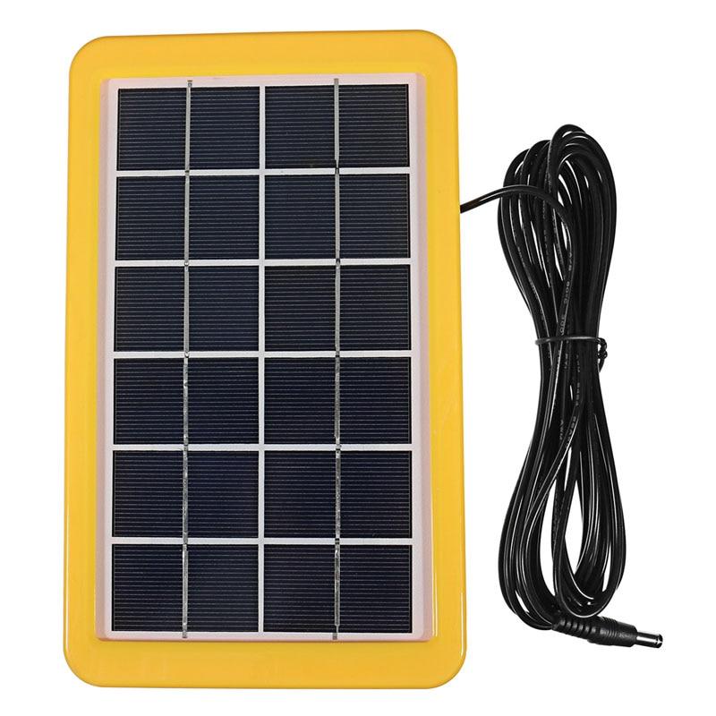 Générateur de panneau d'énergie solaire 3 W avec chargeur USB 2 lampes LED jardin extérieur ASD88