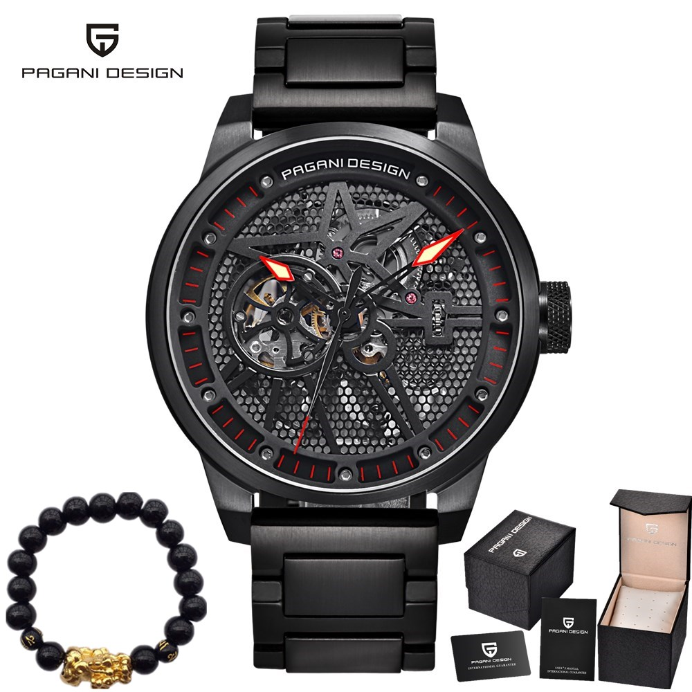 цена New PAGANI DESIGN Brand Watches Men's Classic Stainless Steel Mechanical Waterproof Hollow Automatic Watch Men Relogio Masculino